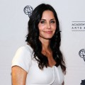 "Courteney Cox arrives at The Academy of Television Arts & Sciences presents an evening with ""Cougar Town"" held at Leonard H. Goldenson Theatre in North Hollywood, Calif. on April 20, 2011"