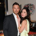 Brian Austin Green and Megan Fox attend the celebration of Jaguar Design and the 50th Anniversary of the Jaguar E-Type at The IAC Building in New York on April 20, 2011