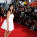 "Rebecca Black arrives at the premiere of Walt Disney Pictures' ""Prom"" at the El Capitan Theater in Los Angeles on April 21, 2011"