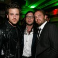 Jared Followill, Nathan Followill and Caleb Followill of Kings of Leon enjoy the atmosphere at the Tribeca Film Festival after-party for Talihina Sky hosted by Heineken at Marquee in New York City on April 21, 2011