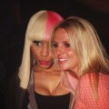 Nicki Minaj and Britney Spears pose together at Nicki&#8217;s concert at Hype in West Hollywood, Calif., on April 22, 2011