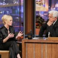 "Lindsay Lohan on ""The Tonight Show with Jay Leno"" on April 25, 2011 for an interview airing April 26, 2011"