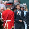 David Beckham arrives to attend the Royal Wedding of Prince William to Catherine Middleton at Westminster Abbey, London, on April 29, 2011