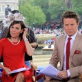 Kit and Billy get ready for the final Access Hollywood Live from London, April 29, 2011