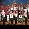 The cast of &#8220;The Book of Mormon&#8221; during the curtain call on the opening night of &#8216;The Book of Mormon&#8217; on Broadway at Eugene O&#8217;Neill Theatre in New York City on March 24, 2011 