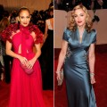 Jennifer Lopez and Madonna at the Costume Institute Gala at The Metropolitan Museum of Art in New York City on May 2, 2011
