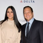 Rob Schneider and Patricia Azarcoya Arce attend the Friars Club roast of Quentin Tarantino at the New York Hilton and Towers in New York City on December 1, 2010