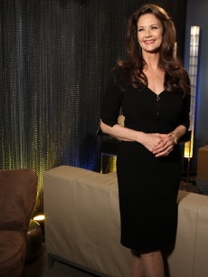 Lynda Carter smiles backstage on the set of Access Hollywood Live on April 19, 2011