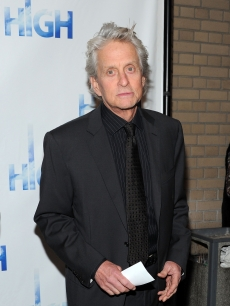 "Michael Douglas attends the Broadway opening night of ""High"" at the Booth Theatre, NYC, on April 19, 2011"