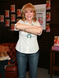 "Barbara Eden attends a signing for her book ""Jeannie Out of the Bottle"" at Barnes & Noble Booksellers at The Grove in Los Angeles on April 16, 2011"