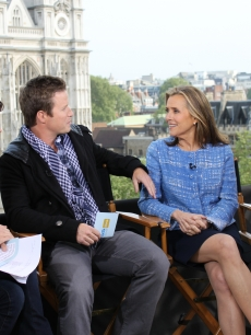 Meredith Vieira and Natalie Morales share their tales of covering the Royal Wedding with Access Hollywood Live&#8217;s Kit Hoover and Billy Bush, London, April 26, 2011