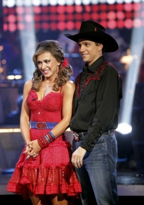"Karina Smirnoff and Ralph Macchio on ""Dancing with the Stars,"" April 18, 2011"