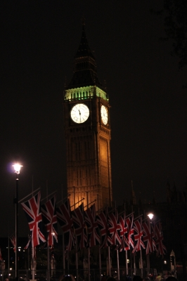 Big Ben on the eve of the Royal Wedding, London, April 28, 2011