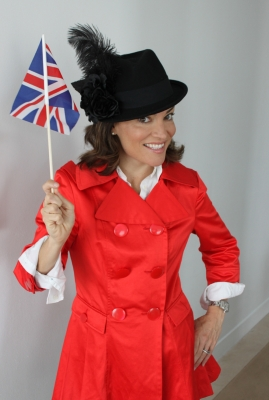Kit Hoover gets into the Royal Wedding spirit on Friday in London, April 29, 2011