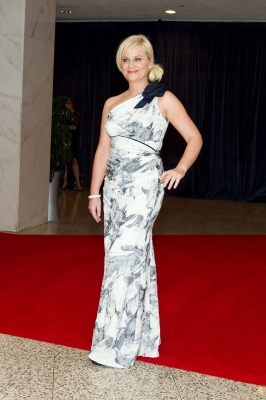 Amy Poehler arrives at the 2011 White House Correspondents' Association Dinner at the Washington Hilton in Washington, DC, on April 30, 2011