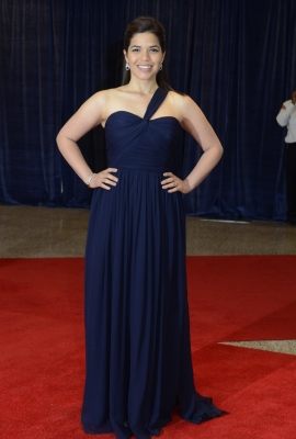 America Ferrera arrives at the 2011 White House Correspondents' Association Dinner at the Washington Hilton in Washington, DC, on April 30, 2011
