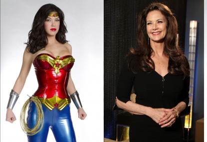 "Adrianne Palicki as ""Wonder Woman""/Lynda Carter"
