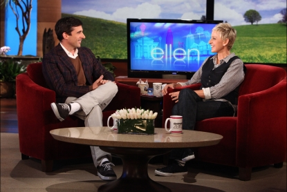 "Steve Carell chats with Ellen DeGeneres on ""The Ellen DeGeneres Show"" in an interview that will air on May 2, 2011"
