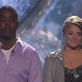 "Jacob Lusk and Lauren Alaina await the verdict on ""American Idol,"" May 5, 2011"