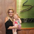 Jamie Lynn Spears and daughter Maddie are all smiles after dining with friends and family at Simon at Palms Place in Las Vegas on May 6, 2011