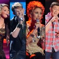 "Lauren Alaina, James Durbin, Haley Reinhart and Scotty McCreery on ""Amercain Idol,"" May 2011"