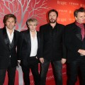 Roger Taylor, Nick Rhodes, Simon Le Bon and John Taylor of Duran Duran attend the RED party in Cannes to celebrate the European launch of RED held at the VIP Room Famous Club in Cannes, France, on May 13, 2011