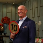 "Len Goodman from ""Dancing with the Stars"" brings his points paddle to Access Hollywood Live, May 12, 2011"