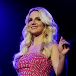 Britney Spears smiles onstage at KIIS FM's Wango Tango at the Staples Center in Los Angeles on May 14, 2011