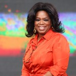 Oprah Winfrey looks out from the set during the first taping of the 'Oprah Winfrey Show' at the Sydney Opera House on December 14, 2010 in Sydney, Australia