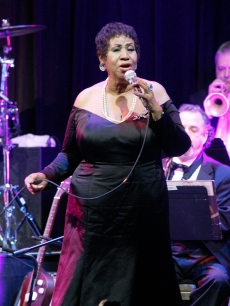 Aretha Franklin performs at the Candie&#8217;s Foundation 2011 event to prevent benefit gala at Cipriani 42nd Street in New York City, on May 3, 2011   