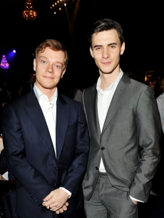 """Game of Thrones"" stars Alfie Allen (Theon Greyjoy) and Harry Lloyd (Viserys Targaryen) attend the launch party for Sky Atlantic HD, London, February 4, 2011"
