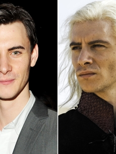 "Harry Lloyd (left) and Harry as Viserys Targaryen in ""Game of Thrones (right)"