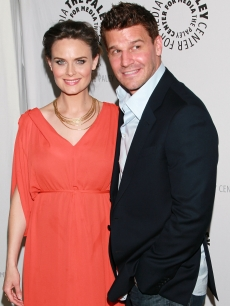 "Emily Deschanel and David Boreanaz step out at An Evening with ""Bones"" presented by The Paley Center For Media at The Paley Center For Media in Beverly Hills, Calif. on May 9, 2011"