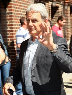 """NCIS"" star Mark Harmon arrives at ""The Late Show With David Letterman"" at the Ed Sullivan Theater, NYC, on May 10, 2011"