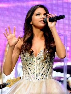 Selena Gomez performs at KIIS FM's Wango Tango at the Staples Center in Los Angeles on May 14, 2011