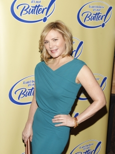 "Kim Cattrall takes part in an ""I Can't Believe It's Not Butter"" event, 2011"