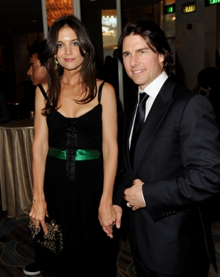 Katie Holmes and Tom Cruise arrive at the Simon Wiesenthal Center&#8217;s Annual National Tribute Dinner at the Beverly Wilshire Hotel in Beverly Hills, Calif. on May 5, 2011 