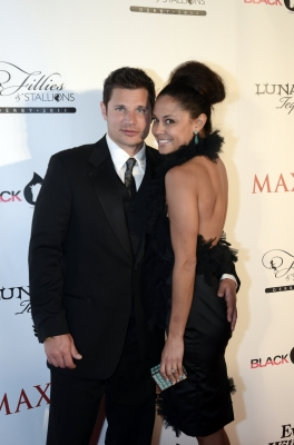 Nick Lachey and Vanessa Minnillo attend the 137th Kentucky Derby at Churchill Downs in Louisville, Kentucky, on May 7, 2011