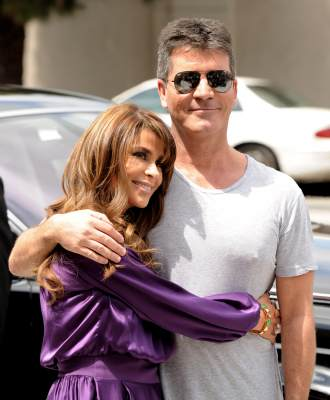 "Paula Abdul and Simon Cowell arrive at the first round of auditions for Fox's ""The X Factor"" at Galen Center in Los Angeles, Calif. on May 8, 2011"