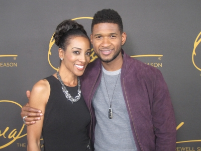 "Access' Shaun Robinson and Usher seen on the red carpet at the star-studded double-taping of ""Surprise Oprah! A Farewell Spectacular,"" Chicago, May 17, 2011"