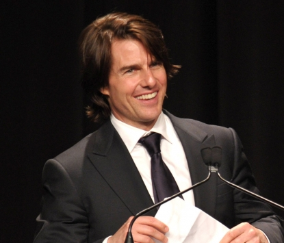 Tom Cruise arrives at the Simon Wiesenthal Center's Annual National Tribute Dinner at the Beverly Wilshire Hotel in Beverly Hills, Calif. on May 5, 2011