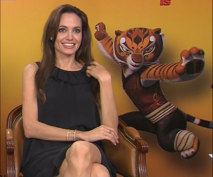 Angelina Jolie chats with Access Hollywood at the &#8220;Kung Fu Panda 2&#8221; junket in Cannes, France, on May 11, 2011