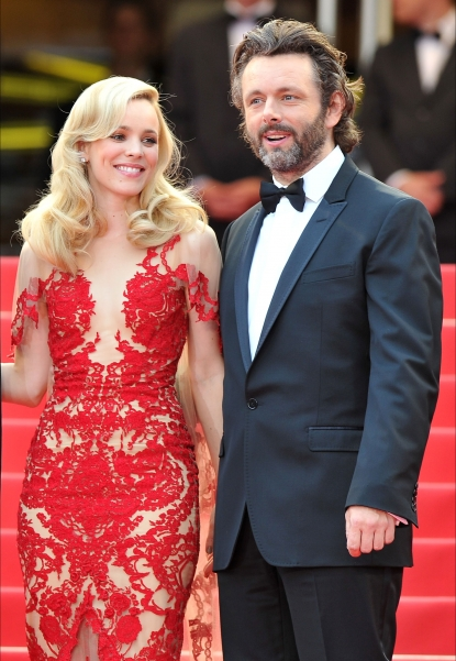 "Michael Sheen and Rachel McAdams step out at the ""Midnight In Paris"" premiere at the Palais des Festivals during the 64th Cannes Film Festival in Cannes, France on May 11, 2011"