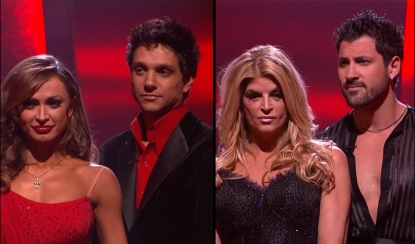 "Karina, Ralph, Kirstie and Maks wait to hear who is going on home ""Dancing with the Stars,"" May 17, 2011"