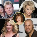 Clockwise from top left: Chris Jericho, Chelsea Kane, Chris Daughtry, Christina Applegate. Insert: Joy Behar