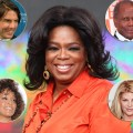Oprah Winfrey, inserts (clockwise from top left): Tom Cruise, Sidney Poitier, Kirstie Alley, Whitney Houston