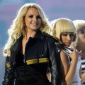 Britney Spears and Nicki Minaj perform onstage during the 2011 Billboard Music Awards at the MGM Grand Garden Arena in Las Vegas on May 22, 2011