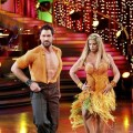 "Maks and Kirstie strut their stuff during Round 1 on the ""Dancing"" final, May 24, 2011"