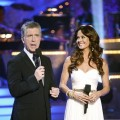 "Tom Bergeron and Brooke Burke take the stage on the ""Dancing"" final, May 24, 2011"