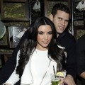 Kim Kardashian and Kris Humphries cuddle up at the Onitsuka Tiger And RCA Records Present The Release Of Avril Lavigne&#8217;s &#8220;Goodbye Lullaby&#8221; at SL in New York City on March 8, 2011 